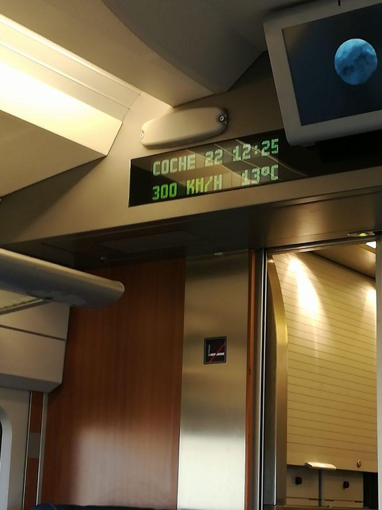 Snabbtåg Madrid - Valencia i januari 2018